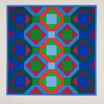 Victor Vasarely, Hommage a Jean Sebastien Bach, 1973
