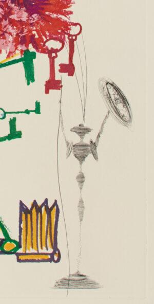 Salvador Dalí. Surrealistic Flowers or Florals, 1972, 2 detail