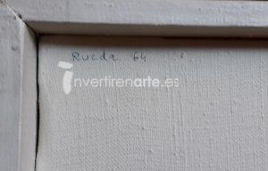 Gerardo Rueda. Untitled, 1964, signature