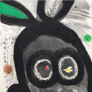Joan Miró. Le roi des lapins, El rey de los conejos, 1981, detail