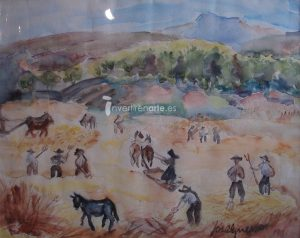 José Guerrero. Untitled (Study for 'La era de La Alberca, Salamanca'), 1946