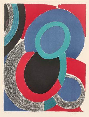 Sonia Delaunay. Vol de nuit, circa 1970