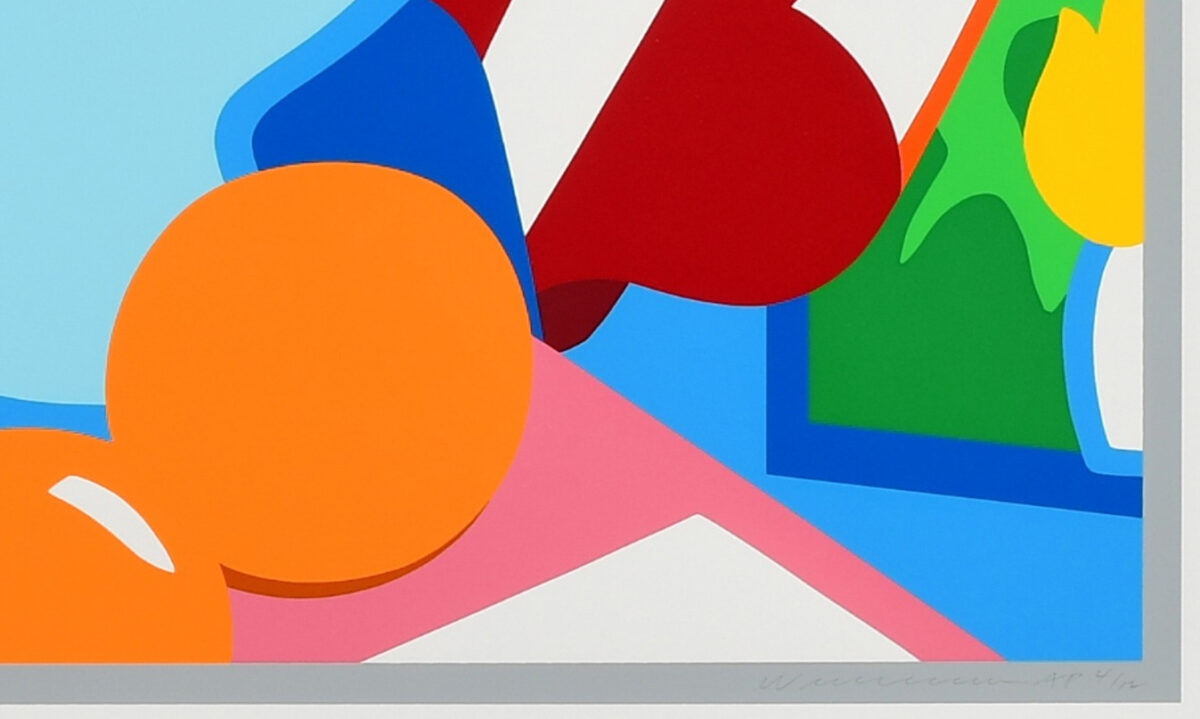 Tom Wesselmann. Still Life with Red Blowing Curtain, 1999, signtaure