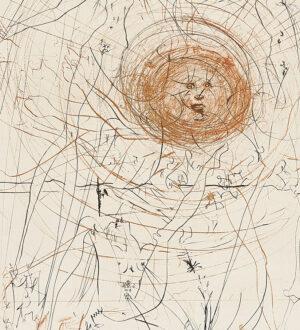 Salvador Dalí. Hippies, 1969-70, 2_detail