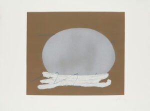 Antoni Tàpies, Oval i blanc, 1982