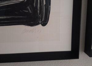 Georg Baselitz, Einer malt mein portrait, 2003, signature and date
