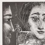 Pablo Picasso, Portrait de Jacqueline au Fauteuil, 1966, detail