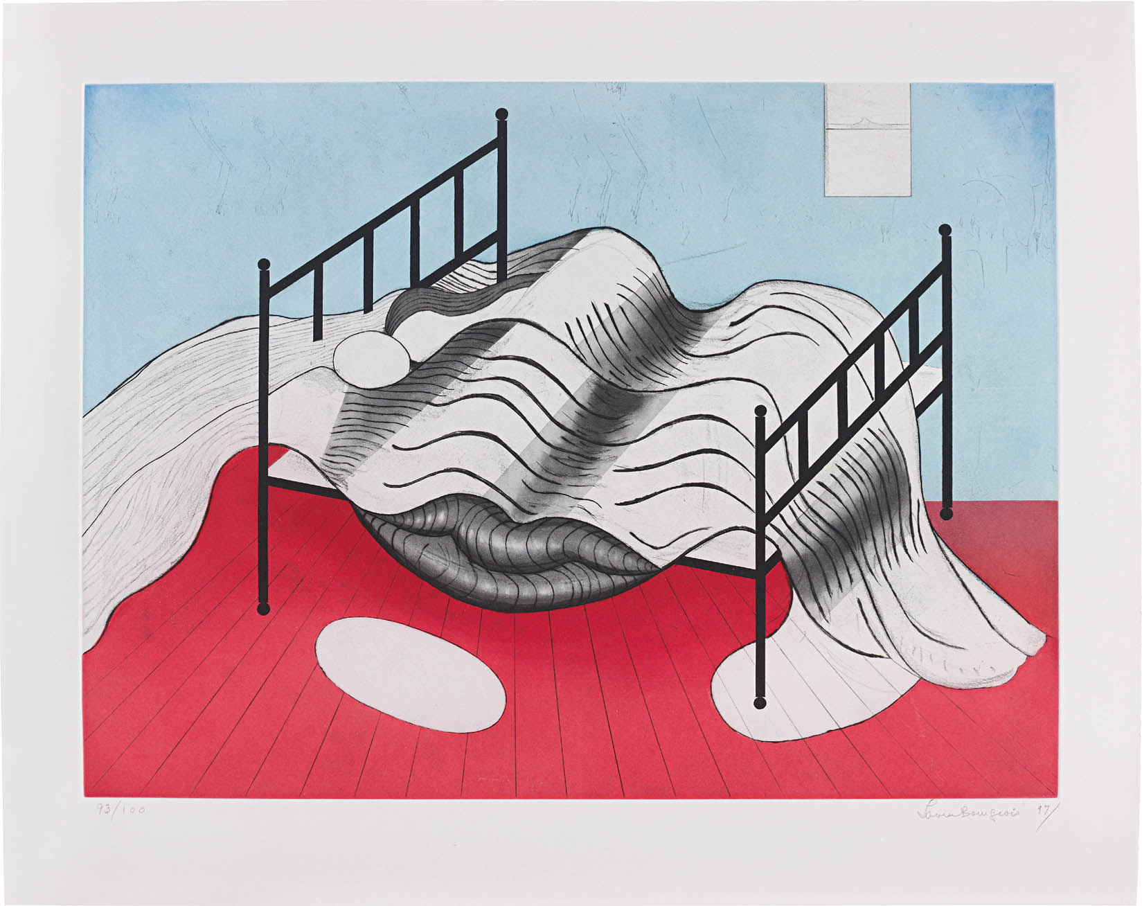 Louise Bourgeois, Le Lit Gros Edredon (With Lips), 1997