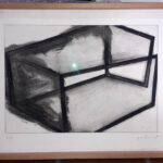José Pedro Croft, Untitled (black and white), framed