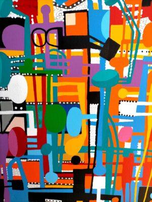 Luis Cruz Azaceta, Urban jungle, 2011, detail