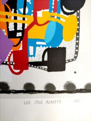 Luis Cruz Azaceta, Urban jungle, 2011, signature and date