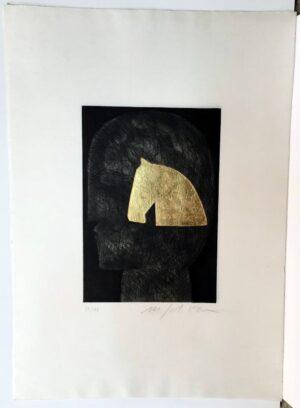 Mimmo Paladino, Figura mistica, 2007 with full paper