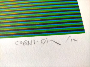 Carlos Cruz-Díez, Color aditivo 2, Medellín Series, 2013, signature and date