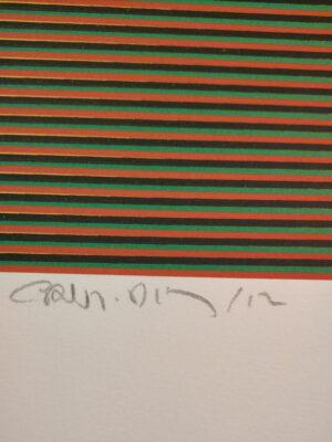 Carlos Cruz-Díez, Color aditivo 3, Medellín Series, 2013, signature and date