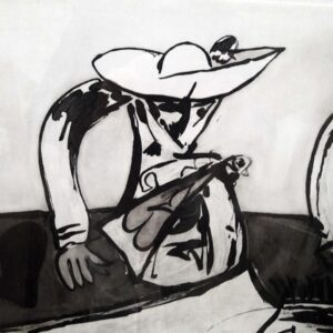 Juan Barjola, Caída del caballo, 1994, detail