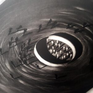 Juan Genovés. Sin título I (Espiral) (Untitled I (Spiral), 1992, detail