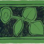 Joan Hernandez Pijuan, Flor sobre verd, 1987