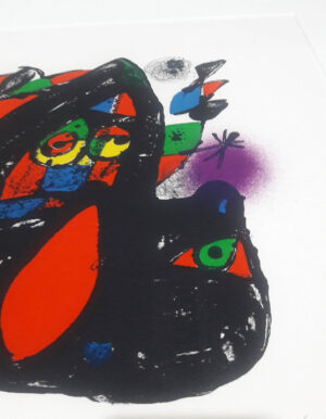 Joan Miro, 1255, from Joan Miró lithographs IV, 1981, detail