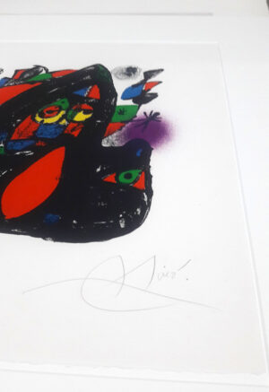 Joan Miro, 1255, from Joan Miró lithographs IV, 1981, signature