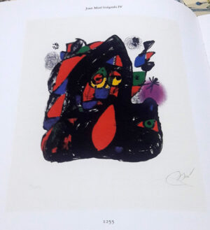 Joan Miro, 1255, from Joan Miró lithographs IV, 1981, book