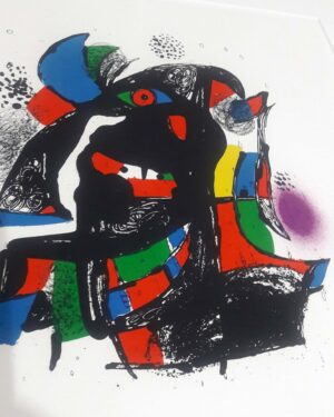Joan Miro, 1257, from Joan Miró lithographs IV, 1981, detail