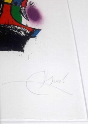 Joan Miro, 1257, from Joan Miró lithographs IV, 1981, signature