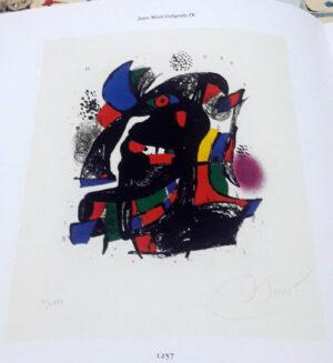 Joan Miro, 1257, from Joan Miró lithographs IV, 1981, book