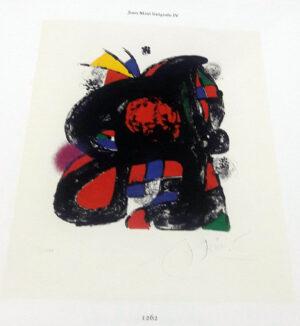 Joan Miro, 1262, from Joan Miró lithographs IV, 1981, book