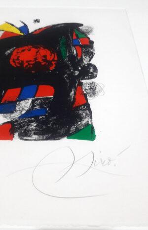 Joan Miro, 1262, from Joan Miró lithographs IV, 1981 signature