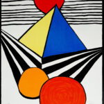 Alexander Calder. Pyramid and Red Sun, from La Mémoire élémentaire, 1978