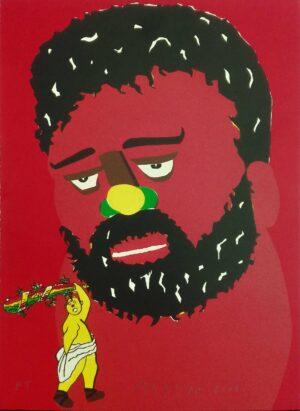 Eduardo Arroyo. Sin título, de Los prólogos del Quijote, 2004, 5