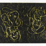 George Baselitz. Woman and woman, 1993-1994