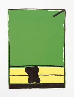 José Guerrero, Sin título, Oda al color verde, Pablo Neruda, 1975