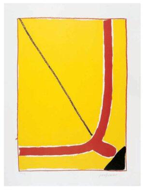 José Guerrero, Sin título, Soneto, Federico García Lorca, 1975