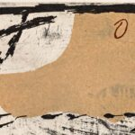 Antoni Tàpies, Pied et lettres, 1976, detail