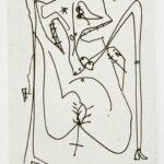 Antonio Saura, L'Odeur de la Saintete, 1975 1 detail