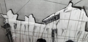 Christo and Jeanne-Claude, Puerta de Alcalá, wrapped project for Madrid, 1981, detail 2