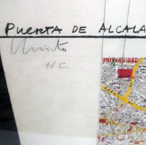 Christo and Jeanne-Claude, Puerta de Alcalá, wrapped project for Madrid, 1981, signature and edition