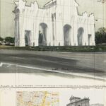 Christo and Jeanne-Claude, Puerta de Alcalá, wrapped project for Madrid, 1981