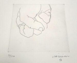 Eduardo Chillida, Esku 1, detail 1