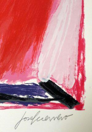 José Guerrero, Sin título, 1964, signature