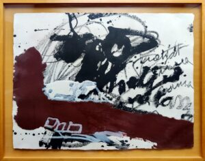 Antoni Tàpies, Roig i negre 5, 1985