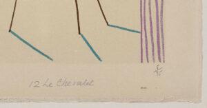 Pablo Picasso, Le peintre masqué et son modèle, 1954, title and edition